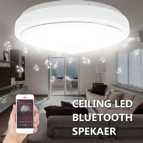 Led Lights For Room Controlled By Phone by Modern Led Ceiling Light Bluetooth Speaker 48 Bulb