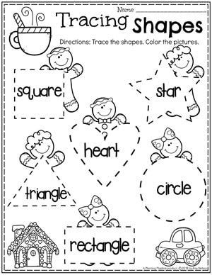 gingerbread man printables  images preschool