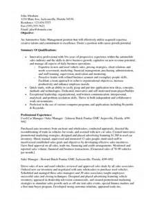 sle manager resume objectives resume objective for sales manager sles of resumes