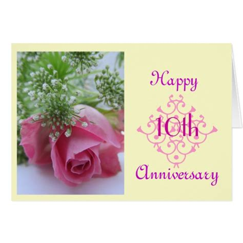 10th wedding anniversary 10th wedding anniversary greeting card zazzle