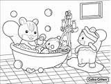 Bathroom Coloring Getdrawings Personal Colorings sketch template