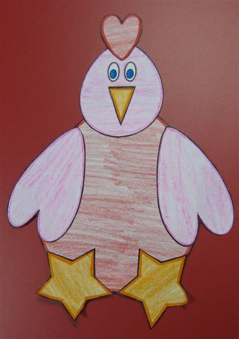 red hen shape craft crafts pinterest