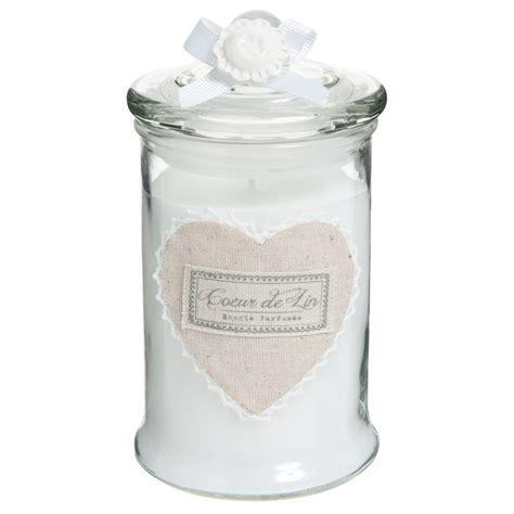 bonbonniere maison du monde bougie parfum 233 e bonbonni 232 re en verre blanche h 15 cm cœur