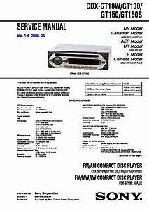 Sony Cdx-gt100  Cdx-gt10w  Cdx-gt150  Cdx-gt150s Service Manual