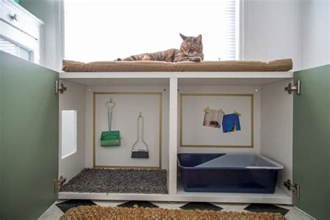 How To Conceal A Kitty Litter Box Inside A Cabinet Living Room Decor Designs Furniture Houzz End Tables Ar Gurney The Dining Ideas For Small Rooms Sets Long Island Rustic Design Costco Table
