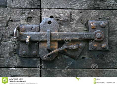 antique door latch stock photo image