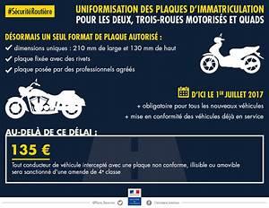 Pose De Plaque D Immatriculation : nouvelle plaque d immatriculation moto scooter quad plus que 6 mois ~ Medecine-chirurgie-esthetiques.com Avis de Voitures