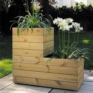 Bac En Bois Pour Plantes : bac plantes en bois id e int ressante pour la ~ Dailycaller-alerts.com Idées de Décoration