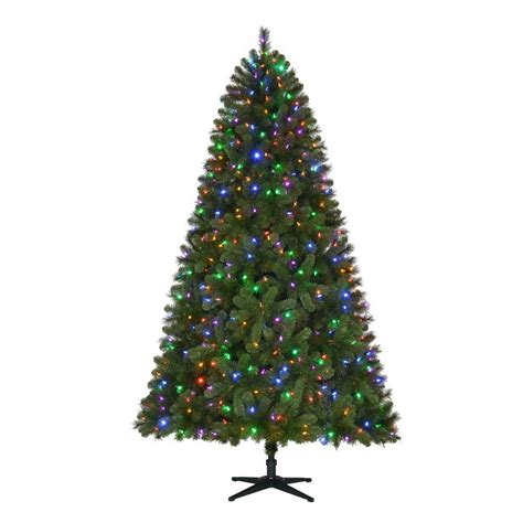 7 5 ft christmas tree with 1000 lights home accents holiday 7 5 ft pre lit led wesley spruce