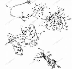 Polaris Atv 1996 Oem Parts Diagram For Electrical  Taillight Assembly Xplorer 400l