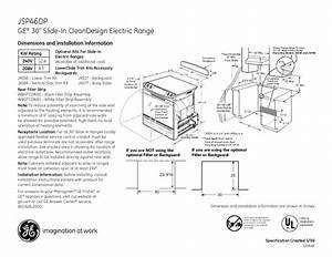 Ge Profile Jsp46dp Manuals
