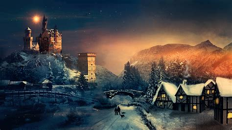 christmas winter season laptop full hd p hd