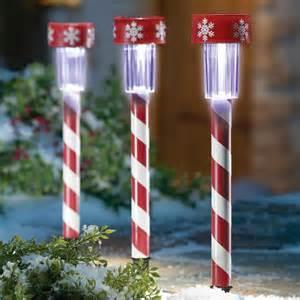 14 peppermint stick 3 candy cane solar light decorations christmas