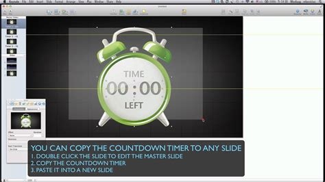 insert countdown timer  keynote youtube