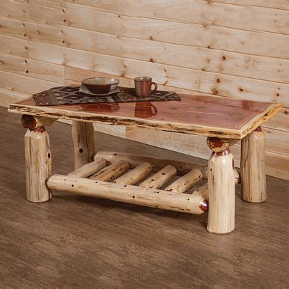 30980 log furniture place modernist amazing cedar lake half log end table woodland creeks log