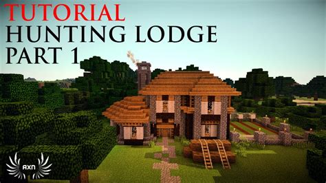 minecraft tutorials medieval hunting lodge part  youtube