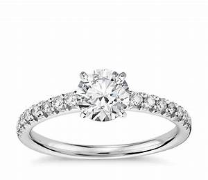 Pave engagement rings an infinity of diamonds wedding for Pave wedding rings