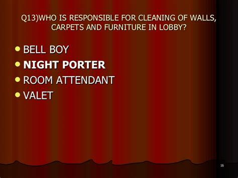 Room Cleaning Quiz quiz front office