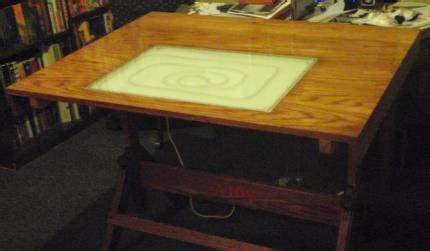 drafting table with lightbox light box drafting table top logan reagan scenic design