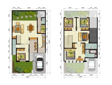 denah rumah minimalis  lantai type  efrata desain