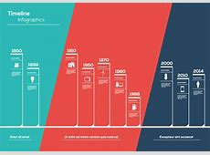 Timeline Infographic White Line Vector Free Vector