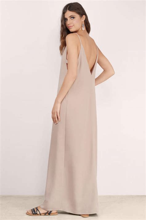 taupe color dress taupe maxi dress brown dress cut out dress 14 00