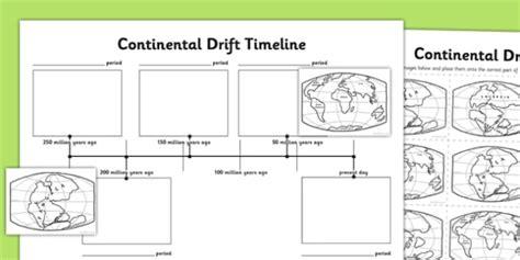 Continental Drift Timeline Worksheet  Worksheet  Continental Drift