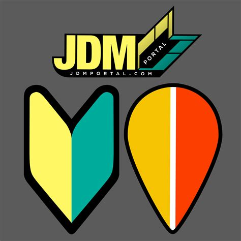 jdm sticker on jdm portal sticker sheet on storenvy