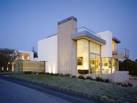 Contemporary Modern House White Exterior Looks With Large