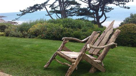 driftwood lawn chair  steps