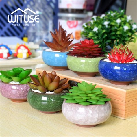 decoration pot de fleur wituse pot de fleur bonsai pots ceramic planter desk flower pot terracotta decor glaze home mini