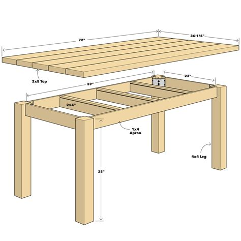 table physique build a simple reclaimed wood table the family handyman