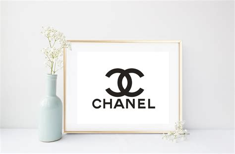 Coco Chanel Print Printable Art Chanel Logo By Inthepinkprints