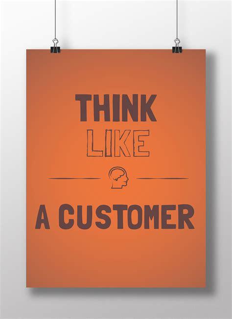 affiche bureau poster de bureau think like a customer kollori com