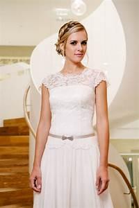 Vintage Hochzeitskleid Mit Flgelarm Spitzencorsage Mehr