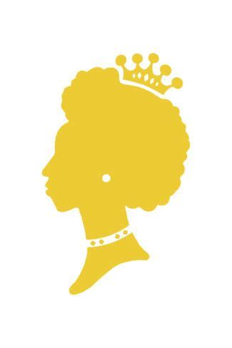 Black Woman Silhouette Wearing a Crown