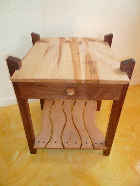hand  black walnut maple  table  drawer