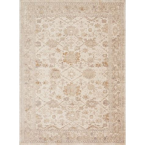 magnolia home  joanna gaines trinity rug  antique ivory bed bath