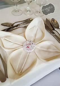Pliage De Serviette En Tissu : pliage de serviettes ~ Nature-et-papiers.com Idées de Décoration