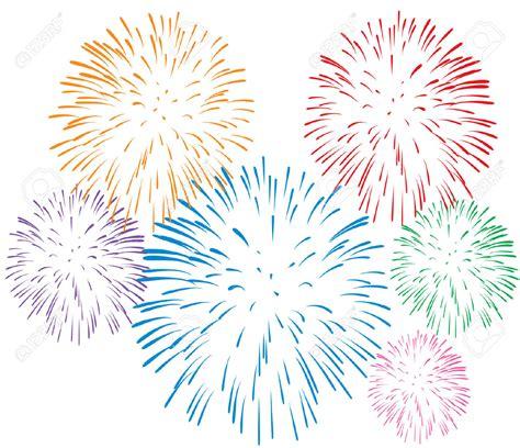 Clipart Fireworks White Fireworks Background Clipart
