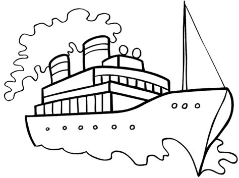 Ferry Boat Drawing Easy by Boat Steam Drawing Easy Sketch Coloring Page