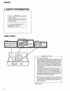 Pioneer Pd S707 Repair Service Manual User Guides