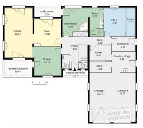 plan maison 3 chambres etage maison contemporaine 3 dé du plan de maison