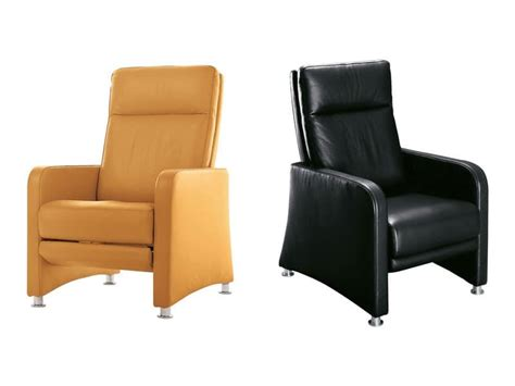 Ergonomic Armchair With Reclining Backrest And Footrest