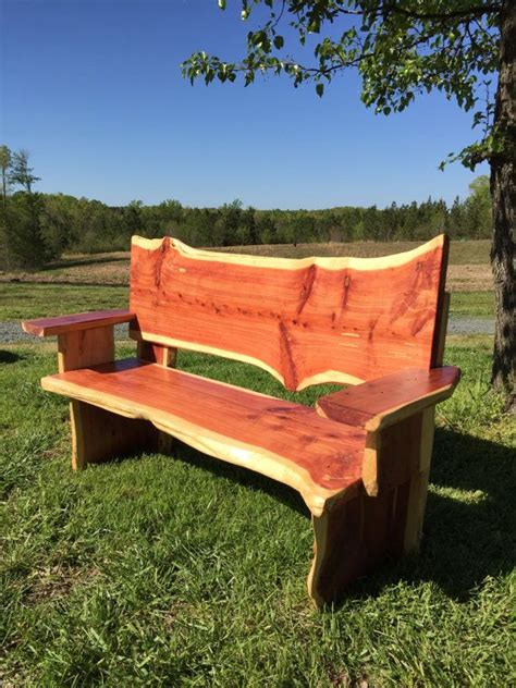 cedar bench  midhurstfarms  etsy cedar bench cedar
