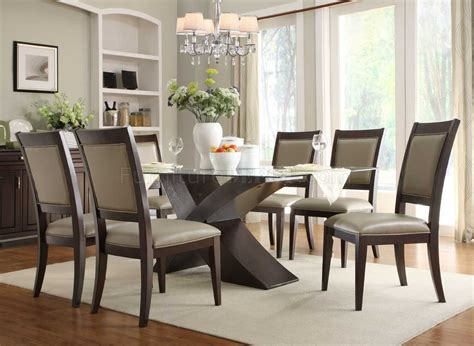 glass dining room sets 2468 72 bering dining table by homelegance in espresso w options
