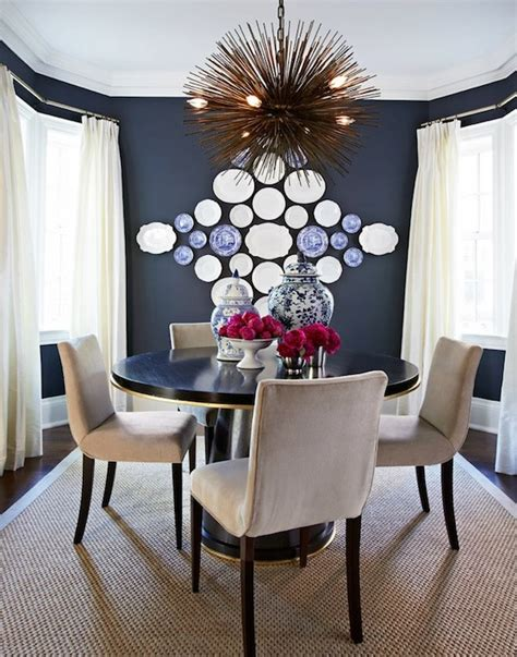 navy blue dining room eclectic dining room mcgill