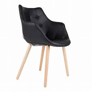 Chaise En Cuir Noir : chaise anders noire zuiver optez pour nos chaises en simili cuir noir design rdvd co ~ Teatrodelosmanantiales.com Idées de Décoration