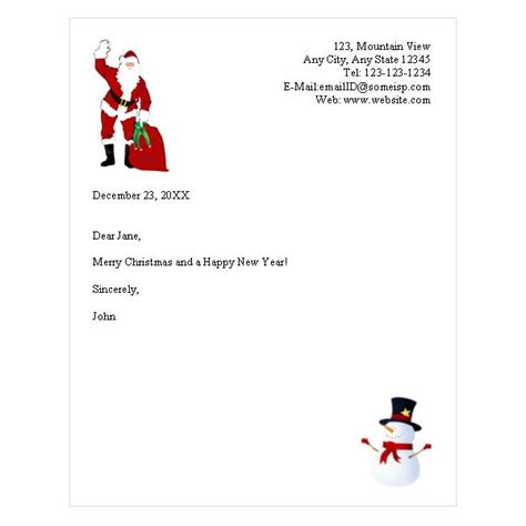 holiday letterhead template websites  offer
