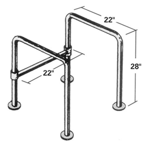 floor mounted ada floor mounted straddle stainless steel grab bar 22 inch